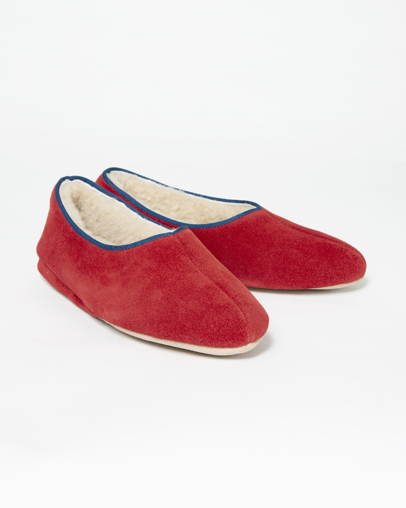 Ladies Ayr Slipper - Size 4 - Red/Blue