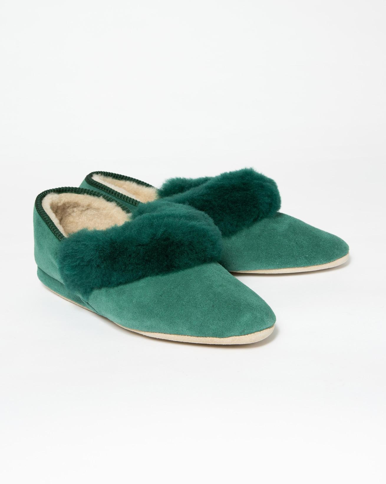 Ladies Strathmore Slipper - Size 8 - Emerald