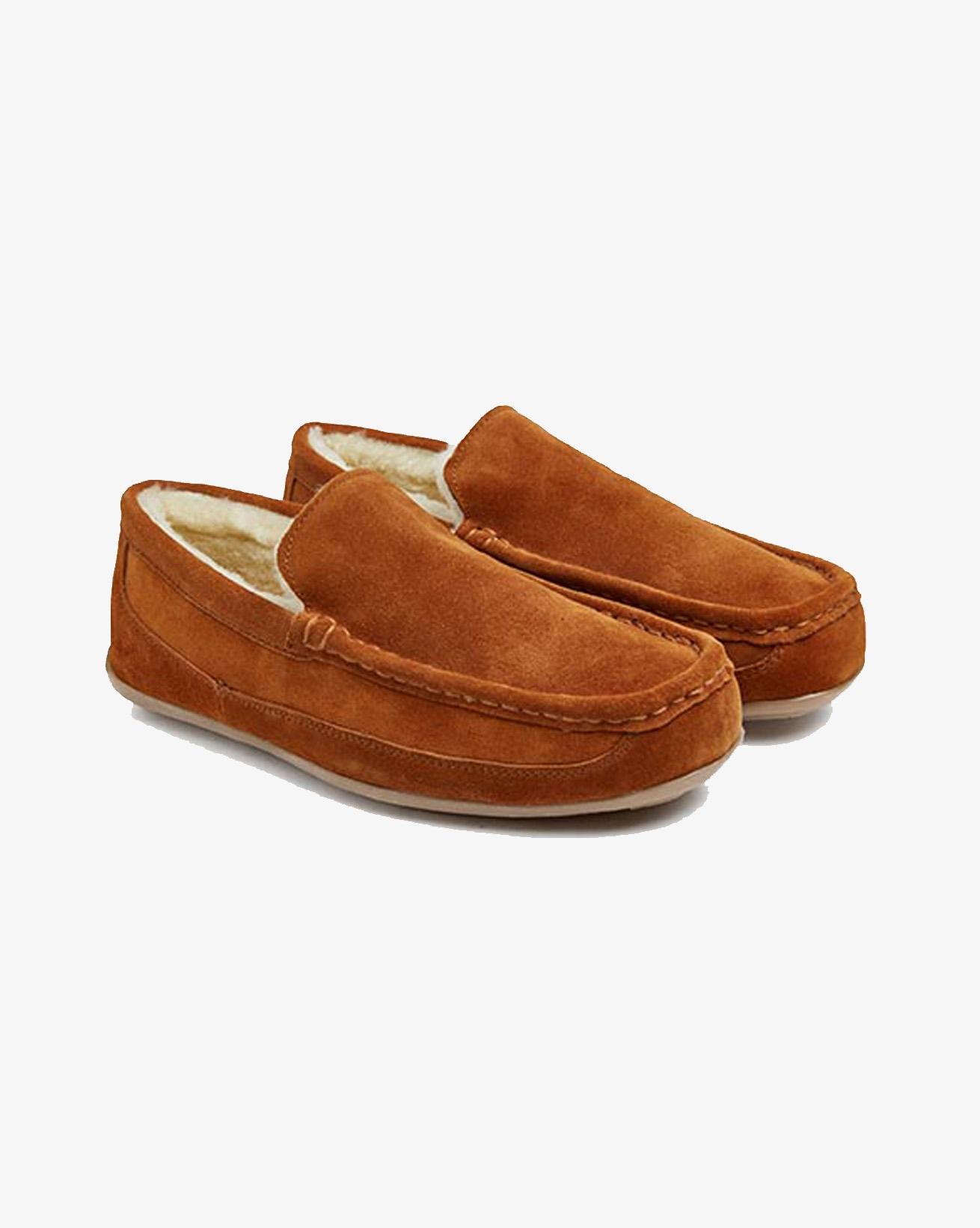 Mens Loafer Slipper - Size 8 - Chestnut