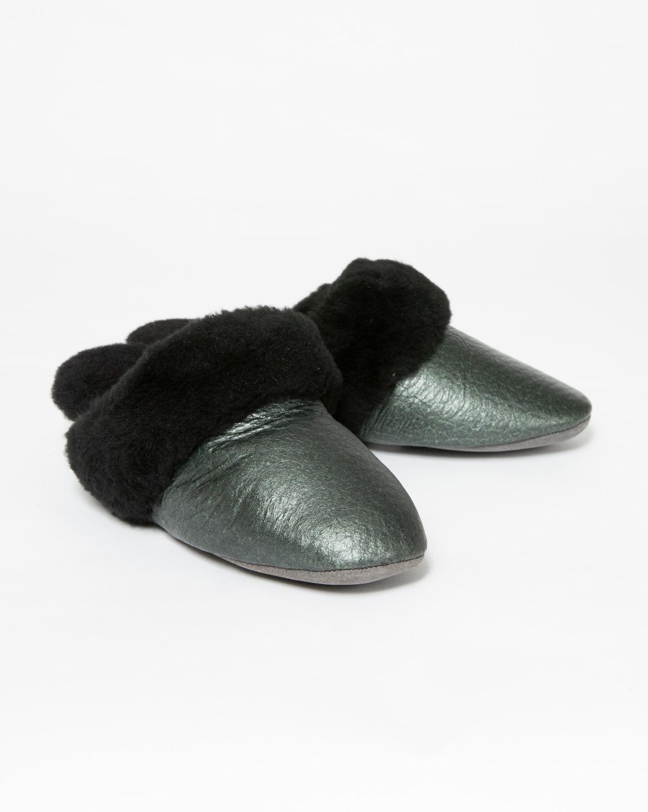 Ladies Moray Slipper - Size 5 - Metallic Green