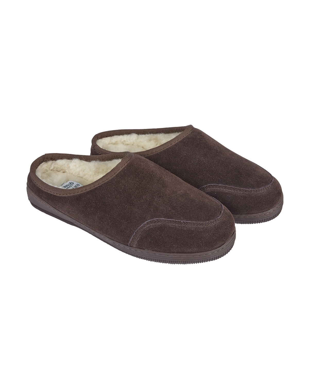 Ladies Mule Slipper - Medium - Size 5-6 - Mocca