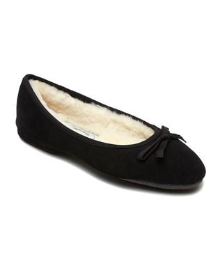 Ladies Sheepskin Slippers Ballerina