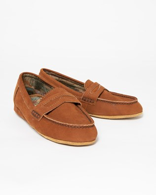 Ladies Loafer Slipper - Size EU 36 - Tan